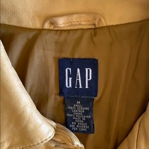 GAP 100% Leather Vintage 80's Jacket
